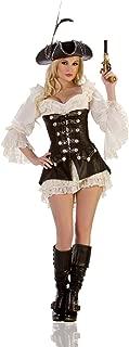 Women's Rouge Pirate Sexy Costume Dress Set