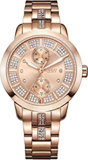 JBW Watch for Women Studded with 6 diamonds, Stainless Steel Band - J6341E