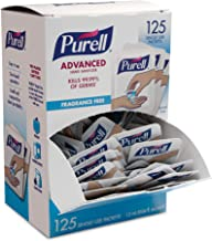 PURELL SINGLES Advanced Hand Sanitizer Gel – 125 Count Single Use Packets with Display Box - 9620-12-125EC