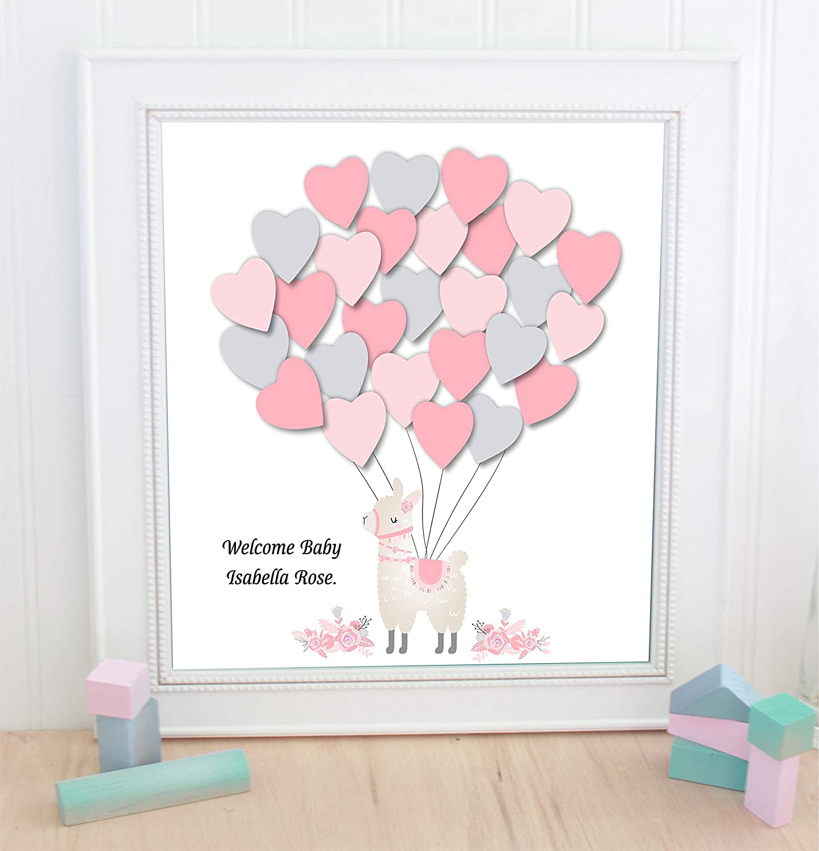 latest Llama alternative balloon guestbook baby t Regular discount shower unframed print
