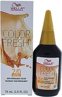 Wella Color Fresh Semi-Permanent Hair Color 2 0 Darkest Brown-Naturalsex, 2.5 Ounce