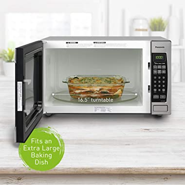 Panasonic Microwave Oven NN-SN966S Stainless Steel Countertop/Built-In with Inverter Technology and Genius Sensor, 2.2 Cubic