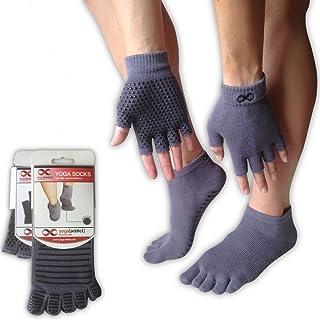 YogaAddict Yoga Socks and Gloves Set, for Any Type of Yoga and Pilates