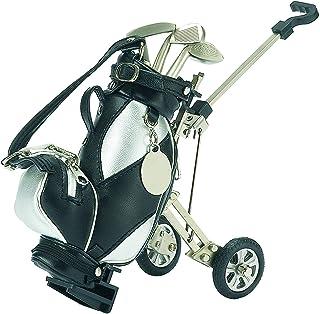 "$38 » 7.25"" Silver and Black Golf Bag Pen Set and Holder Desk Organizer Accessory"