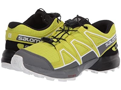 Salomon Kids Speedcross CSWP (Little Kid/Big Kid) (Evening Primrose/Quiet Shade/Black) Kids Shoes