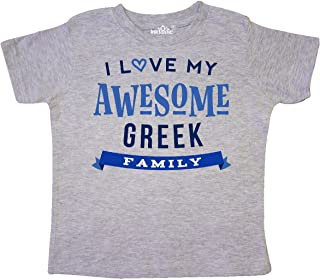 inktastic Greek Family Pride Awesome Toddler T-Shirt