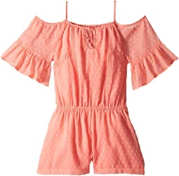 Cold Shoulder Peasant Romper (Big Kids)