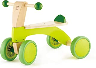 Hape Scoot Around Ride On Wood Bike | Award Winning Four Wheeled Wooden Push Balance Bike Toy for Toddlers with Rubberized...