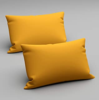 VOMZER - Home Solid Microfiber Pillow Covers - Regular Size (18 x 28 inches) - (2, Yellow)
