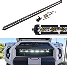 iJDMTOY Behind Grille Mount 32-Inch LED Ultra Slim Light Bar Kit For 2014-up Toyota 4Runner, Includes (1) 90W High Power LED Lightbar & Behind Grill Mounting Brackets