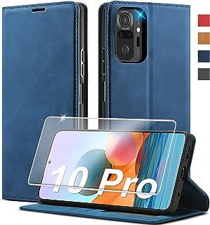 Kompatibel für Xiaomi Redmi Note 10 Pro Hülle Leder [Standfunktion] [Kartenfach] Handyhülle für Xiaomi Redmi Note 10 Pro M...