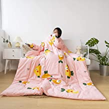 TV Blanket with Sleeves, Lazy Quilt Blanket for Couch, Sofa Home Nap, Soft Polyester Wearable Blanket for Adult, 59 * 78.7...