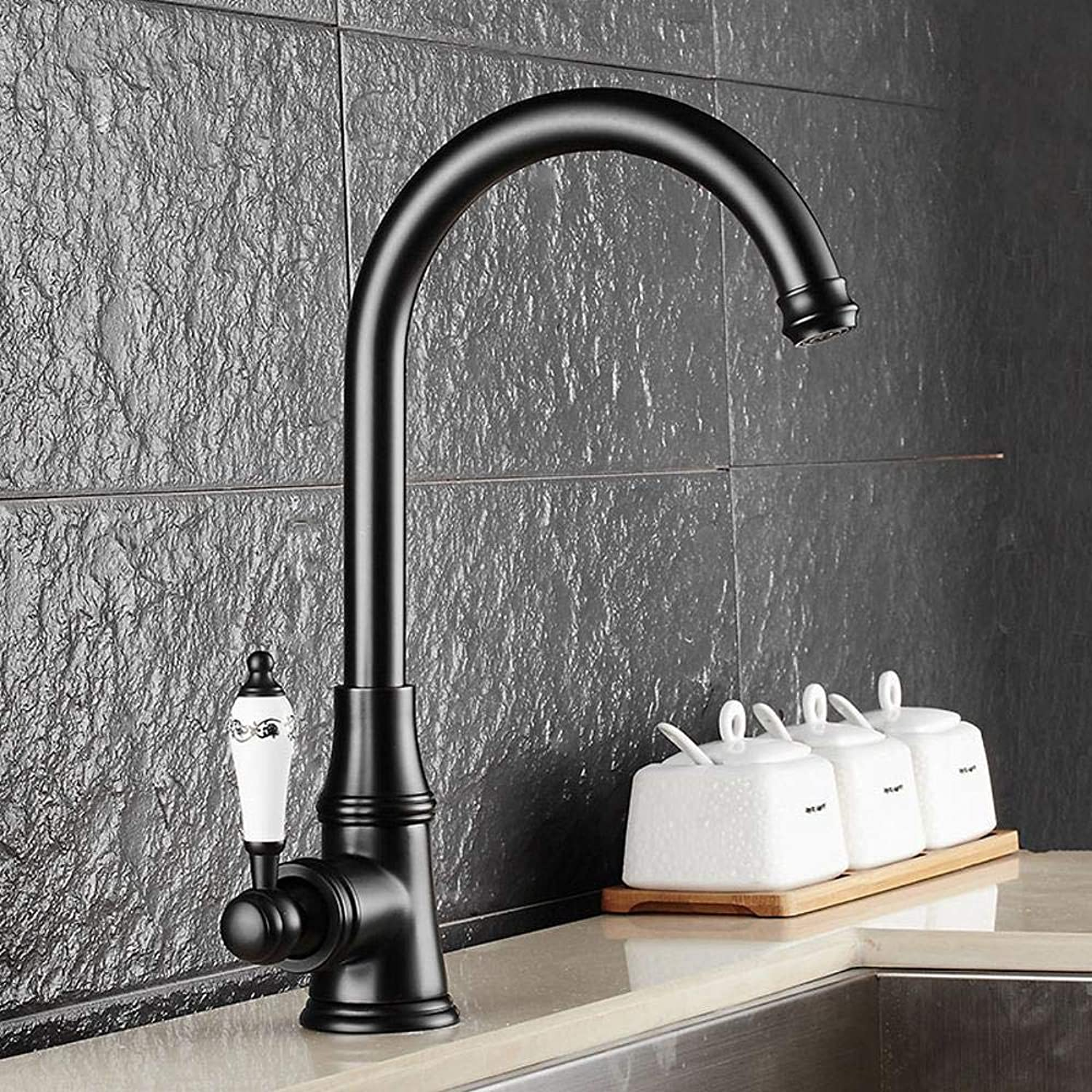 Lxj Faucet single lever single hole hot and cold water kitchen faucet redatable faucet