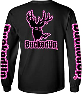 BuckedUp Long Sleeve Black with Polka Dot Logo