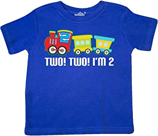 2nd Birthday 2 2 Train Outfit Toddler T-Shirt