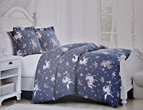 Cynthia Rowley Girls Magical Unicorn 2 Pc Twin Size Comforter Set