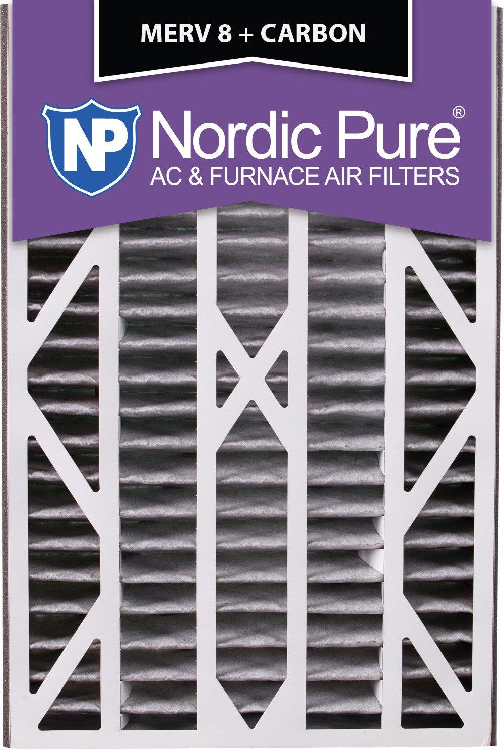 Nordic Pure 16x25x3ABPM8C-7 Merv 8 PlusカーボンAC炉フィルター、7個