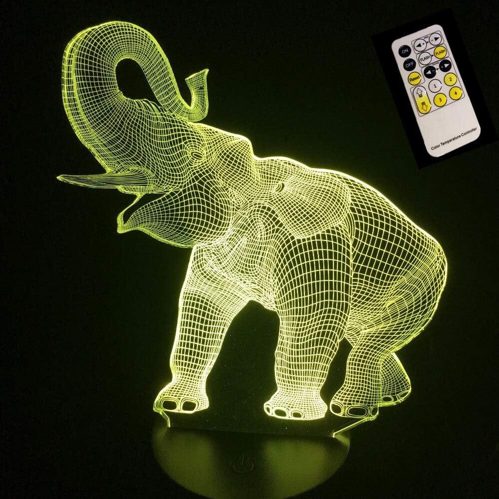 Color  Touch Control Lamp 8D Illusion LED Tischleuchte Nachtlicht ...