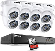 ANNKE 8-Channel 3MP Security DVR Recorder 2TB HDD and (8) 1080P Outdoor Fixed CCTV Cameras Surveillance System,the latest ...