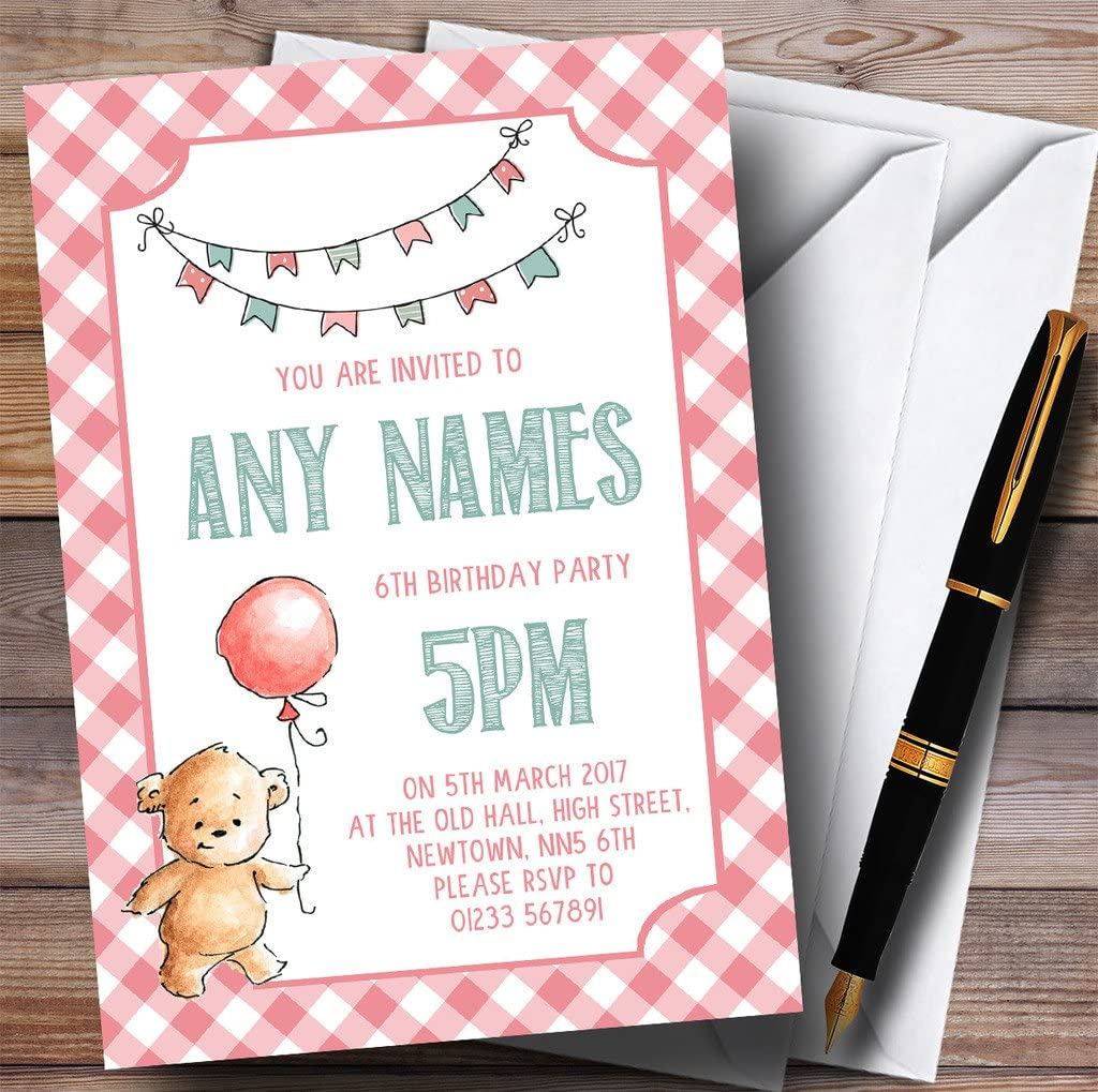 Child Birthday Invitation Teddy Bears Picnic Party Invitations Birthday Party