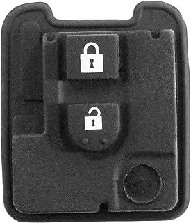 Goma 2 teclas Repuesto mando a distancia carcasa llave negro Nissan Qashqai X-Trail Micra