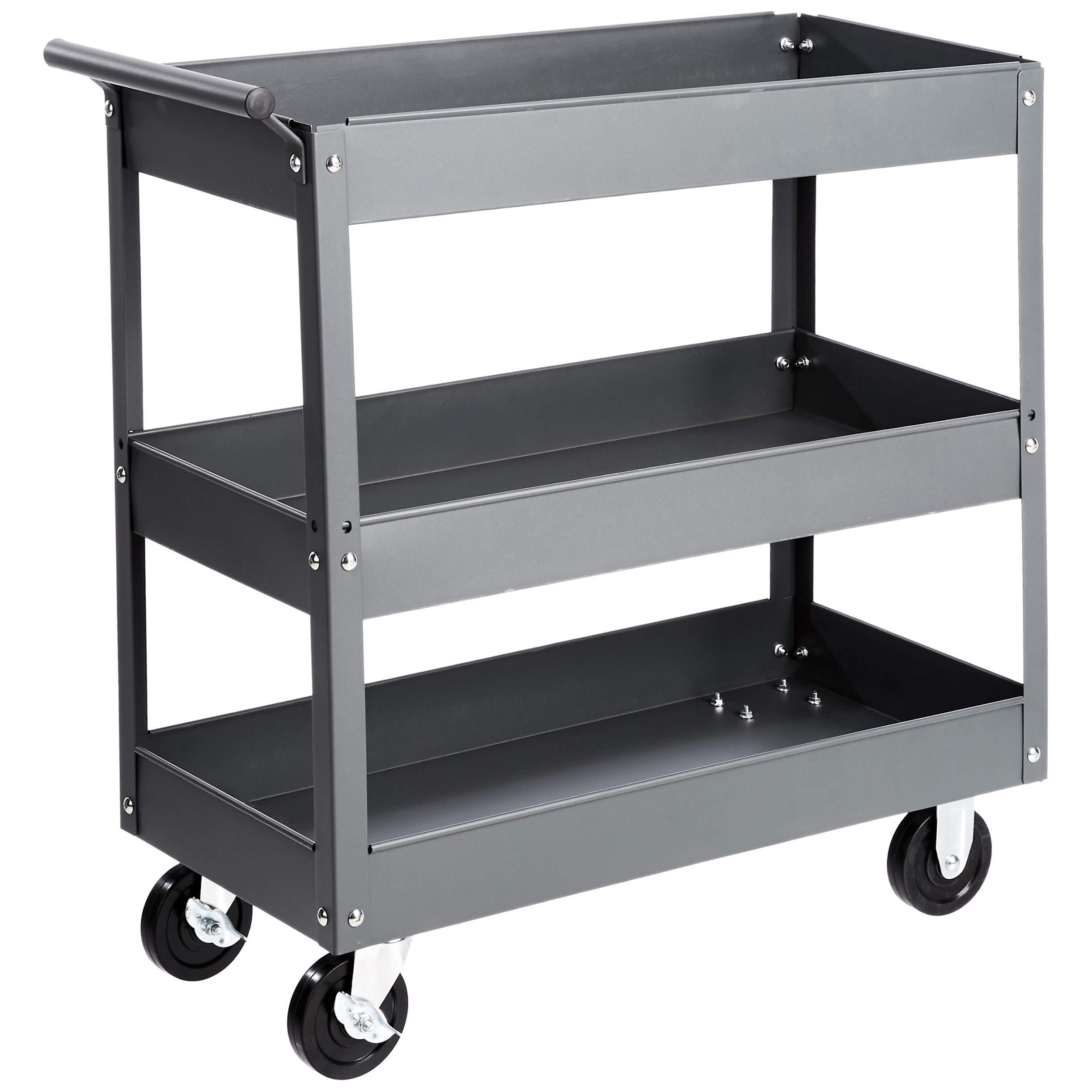 AmazonBasics 3 Shelf Multipurpose Utility capacity