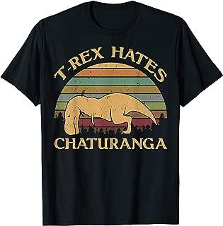 t rex hates chaturanga t shirt