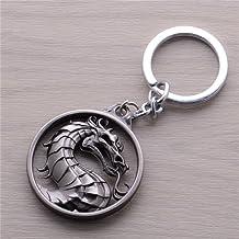 Mortal Kombat Vintage Charms Dragon Amulet Key Chain Key Rings Pendant
