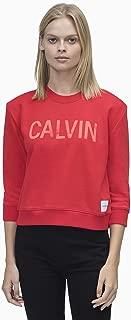 Calvin Klein Jeans Women's Boxy Satin Bonded Calvin Crew Neck Sweat