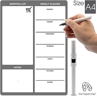 Negro Planificador Semanal de Pizarra Resistente a las Manchas Calendario Magn/ético con 8 Marcadores de Colores para el Hogar la Oficina Housolution Calendarios de Pared para Nevera Refrigerador