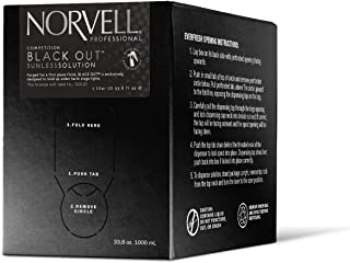 Norvell Premium Sunless Tanning Solution – Competition Black Out, 1 Liter Box