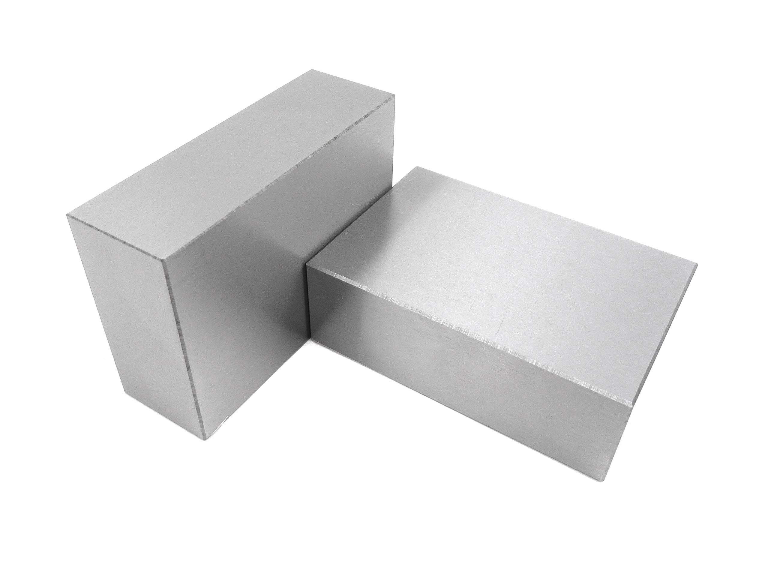 "Taytools 469744 1-2-3 Blocks No Holes Matched Pair (2 Each), Hardened Steel RC 55-62, (1""x2""x3"") 123 Precision Ground Machinist Set Up Blocks"