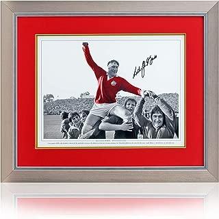 Willie John McBride hand signed 16x12'' British & Irish Lions photo