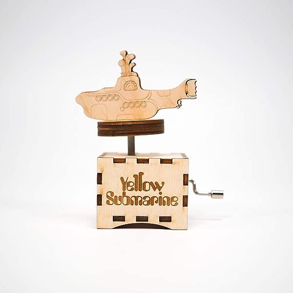 The Beatles Music Box Yellow Submarine Personalized Gift Hand Cranked Mechanism