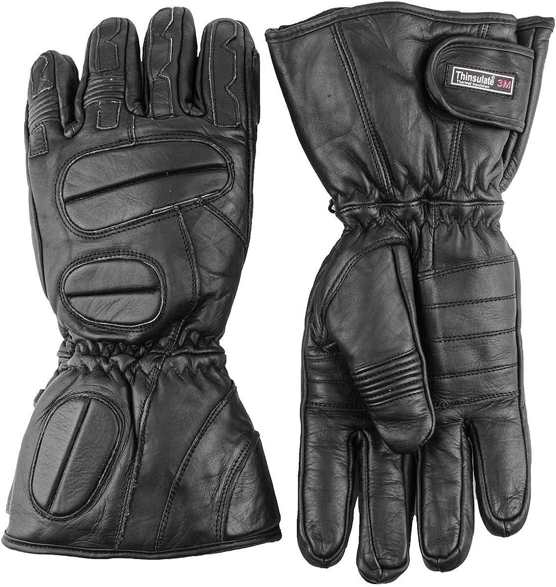 Premium Leather Snowmobile Gloves Gauntlet Snow Ski Cold Weather ( 2XL XXL )