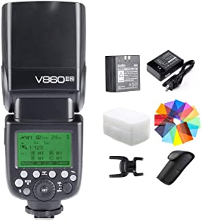 Godox V860II-N Kit I-TTL GN60 2.4G HSS 1/8000s Li-ion Battery Camera Flash Speedlite Light for Nikon D800 D700 D7100 D5200...