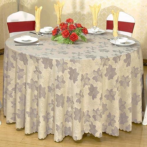 ASL Nappe Tissu Rond Table Tissu Table Tissu Tissu Style Européen Hotel Cotton Thickening sélectionner (Couleur   C, taille   D380cm)