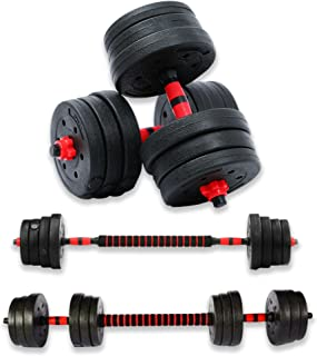 Respire Fitness 20kg Adjustable Dumbbells Barbell Set with Plates, Collars, and Bars for Personal Home Gym Fitness Workout...