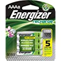 8-Count Energizer 700 mAh NiMH Universal Rechargeable AAA Batteries