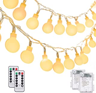 Gluckluz Decoration Lights Fairy String Lighting 30 LED Battery Operated Globe Bulb Light with Remote Control for Indoor O...