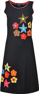 Tattopani Vestido para mujeres de verano sin mangas con bolsillos laterales!