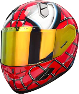 NENKI NK-856 Full Face Spiderman Motorcycle Helmet For Adult &Youth Street Bike,Fiberglass Helmet Shell,DOT Approved (RED BLUE, Medium)
