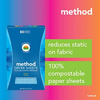 Method Dryer Sheet 80s-Fresh Air