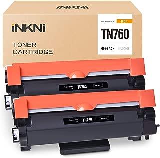 INKNI Compatible Toner Cartridge Replacement for Brother TN760 TN-760 TN730 for HL-L2350DW HL-L2370DW HL-L2395DW MFC-L2710DW DCP-L2550DW MFC-L2750DW HL-L2390DW HL-L2370DW XL MFC-L2750DW XL(Black, 2P)