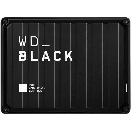 WD ポータブルHDD 2TB WD_Black P10 USB 3.2 Gen1 / 3年保証 【PS4 / Xbox Oneメーカー動作確認済】WDBA2W0020BBK-WESN