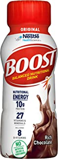 BOOST Original Complete Nutritional Drink, Rich Chocolate, 8 Ounce Bottle (Pack of 24)