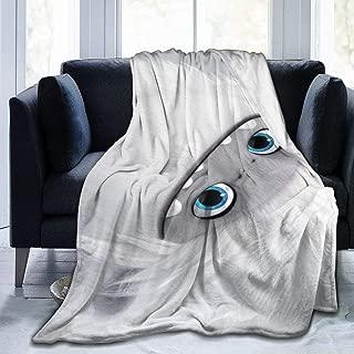 HelloHia Abominable Throw Blanket Soft Micro-Plush Flannel Reversible Warm Blanket for Couch Fleece Blanket All Season,80