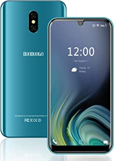 Cell Phones Unlocked Android 8.1 DUODUOGO A70(2019) 5.7 Inch 19:9 Full-Screen Display 3GB RAM+16GB ROM/128GB Maximum Android Mobile Phone Face ID Dual 4G Volte Smart Phone 8MP Dual Camera (Green)