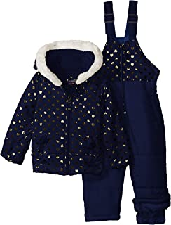 U.S. Polo Assn. Baby Girls Foil Printed Snowsuit
