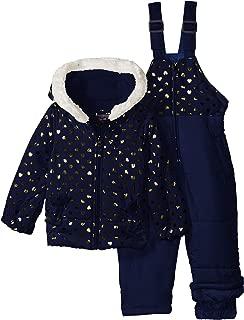 U.S. Polo Assn. Baby Girls Foil Printed Snowsuit